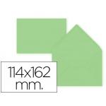 Sobre Liderpapel c6 color verde 114x162 mm 80gr pack de 15 unidades