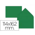 Sobre Liderpapel c6 color verde acebo 114x162 mm 80gr pack de 15 unidades