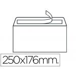 Liderpapel SB22 - Sobre B5, tamaño 176 x 250 mm, solapa recta tira de silicona, color blanco, caja de 500 unidades