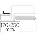 Sobre Liderpapel color blanco b5 solapa recta paquete 176x250 mm tira de silicona paquete de 25 unidades