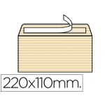 Sobre Liderpapel verjurado color ahuesado 120 gr tira silicona 110x220 mm caja de 250 unidades