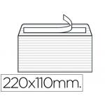 Sobre Liderpapel verjurado color blanco 120 gr tira silicona 110x220 mm caja de 250 unidades
