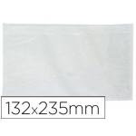 Sobre autoadhesivo Q-Connect portadocumentos 225x122 mm ventana transparente paquete de 100 unidades