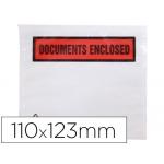 Sobre autoadhesivo Q-connect portadocumentos multilingue 113x100 mm sin ventana paquete de 100 unidades