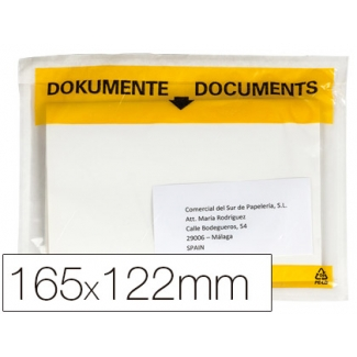 Q-Connect KF21724 - Sobre autoadhesivo portadocumentos, 122 mm x 165 mm, paquete de 100