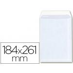 Sobre bolsa tamaño A6 offset blanco 100 gr/m2 184x261 mm con tira de silicona caja 250