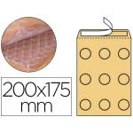 Q-Connect KF15020 - Bolsa burbuja, tamaño 175 x 165 mm, solapa tira de silicona, color crema