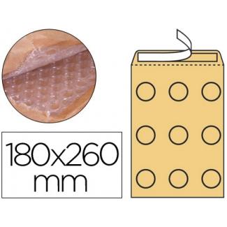 Q-Connect KF15013 - Bolsa burbuja, tamaño 180 x 260 mm, solapa tira de silicona, color crema