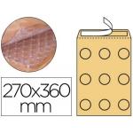Q-Connect KF16585 - Bolsa burbuja, tamaño 270 x 360 mm, solapa tira de silicona, color crema, caja de 50 unidades