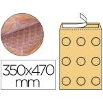 Q-Connect KF16587 - Bolsa burbuja, tamaño 350 x 470 mm, solapa tira de silicona, color crema, caja de 50 unidades