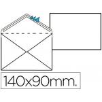 Sobre color blanco registro extra 90 x 140 mm caja de 100