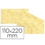 Michel 4619-30 - Sobre pergamino marmoleado, tamaño 110 x 220 mm, solapa engomada, color amarillo, paquete de 25 unidades