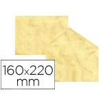 Sobre fantasía marmoleado color amarillo 160x220 mm 90 gr paquete de 25