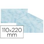 Michel 4619-60 - Sobre pergamino marmoleado, tamaño 110 x 220 mm, solapa engomada, color azul, paquete de 25 unidades