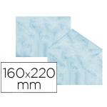 Sobre fantasía marmoleado color azul 160x220 mm 90 gr paquete de 25