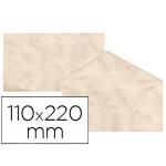 Sobre fantasía marmoleado color beige 110x220 mm 90 gr paquete de 25