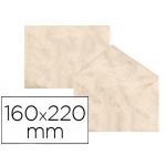Sobre fantasía marmoleado color beige 160x220 mm 90 gr paquete de 25