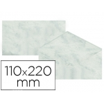 Michel 4619-10 - Sobre pergamino marmoleado, tamaño 110 x 220 mm, solapa engomada, color gris, paquete de 25 unidades