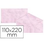 Michel 4619-50 - Sobre pergamino marmoleado, tamaño 110 x 220 mm, solapa engomada, color rosa, paquete de 25 unidades