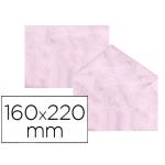 Sobre fantasía marmoleado color rosa 160x220 mm 90 gr paquete de 25
