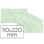 Sobre fantasía marmoleado color verde 110x220 mm 90 gr paquete de 25