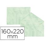 Sobre fantasía marmoleado color verde 160x220 mm 90 gr paquete de 25