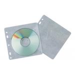 Sobre para 2 cd Q-connect polipropileno con solapa multitaladro y forro protector-pack de 40 unidades