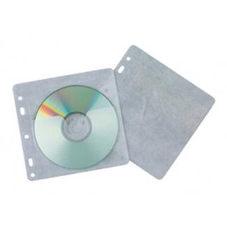Q-Connect KF02208 - Sobre de polipropileno para CD/DVD, con solapa, pack de 40 unidades