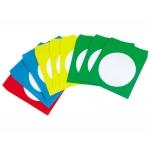 Sobre para cd Q-connect con ventana transparente y solapa autoadhesiva pack de50 unidades colores surtidos
