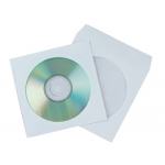 Sobre para cd Q-connect con ventana transparente y solapa pack de 50 unidades