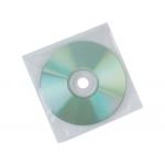 Sobre para cd Q-connect polipropileno con solapa pack de 50 unidades