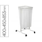 Soporte Cep para bolsas de basura de 110 litros en plástico y acero con ruedas 400x450x853 mm