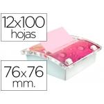 Soporte bloc de notas adhesivas Post-it millenium con 12 bloc r 330 nap colores neon y rosa pastel