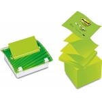 Soporte bloc de notas adhesivas Post-it millenium con 8 bloc color verde
