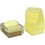Soporte bloc de notas adhesivas quita y pon pos- iten vidrio y corcho reciclado +12 bloc