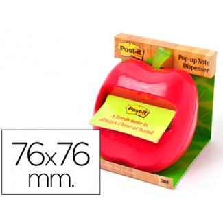 Soporte bloc de notas adhesivo Post-it con forma de manzana