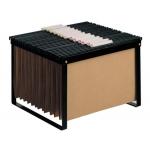 Soporte para carpetas colgante Q-Connect color negro bastidor de sobremesa para carpetas tamañotamaño folio y formato A4
