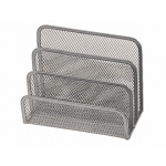 Soporte para cartas Q-connect metálico rejilla color gris 175x140x82 mm