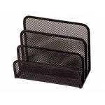 Soporte para cartas Q-connect metálico rejilla color negro 175x140x82 mm