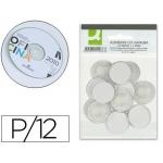 Soporte para cd Q-connect adhesivos bolsa de 12 unidades