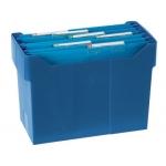 Soporte sobremesacarpetas colgantes color azul de poliestireno para tamaño A4 capacidad 20 carpetas