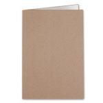 Liderpapel SC24 - Subcarpeta de cartulina, folio, 240 gr /m2, color kraft interior blanco