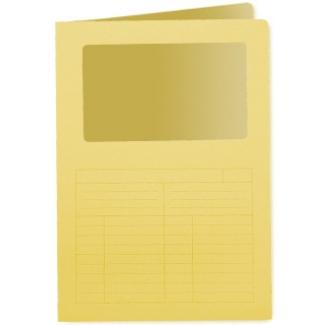 Q-Connect KF15244 - Subcarpeta con ventana transparente, A4, 120 gr/m2, color amarillo