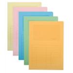 Subcarpeta cartulina Q-connect tamaño A4 colores surtidos con con ventana transparente 120 gr paquete de 25 unidades