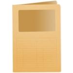 Subcarpeta cartulina Q-connect tamaño A4 naranja con ventana transparente 120 gr