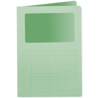 Q-Connect KF15247 - Subcarpeta con ventana transparente, A4, 120 gr/m2, color verde