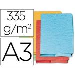 Subcarpeta cartulina Fast-PaperFlow tamaño A3 pocket con bolsa y solapa colores surtidos