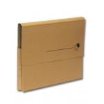 Subcarpeta cartulina nature line vip Fast-PaperFlow tamaño folio con bolsa fuelle y solapa pack de 10 unidades kraft
