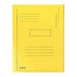 Subcarpeta cartulina reciclada Exacompta tamaño A4 color amarillo 280 gr/m2 con 2 solapas interior