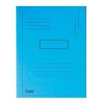 Subcarpeta cartulina reciclada Exacompta tamaño A4 color azul 280 gr/m2 con 2 solapas interior